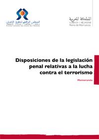 Disposiciones de la legislación penal relativas a la lucha contra el terrorismo